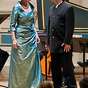 November 15, 2011 - Manhattan, NY : The Theatre of Early Music including, from left, soprano Deborah York and conductor and countertenor Daniel Taylor, perform works by George Frideric Handel in the Joan and Sanford I. Weill Recital Hall at Carnegie Hall on Tuesday night. CREDIT: Karsten Moran for The New York Times