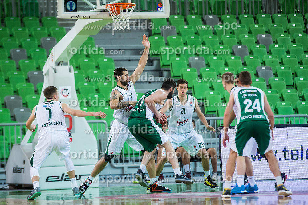 Basketball match between KK Union Olimpija Ljubljana and KK Krka in Round #5 of ABA League 2015/16, on October 11, 2015 in Arena Stozice, Ljubljana, Slovenia. Photo by Grega Valancic / Sportida