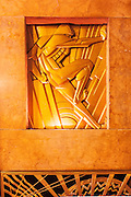 Art Deco bas relief by sculptor René Chambellan in the lobby of the remarkable  Chanin Building