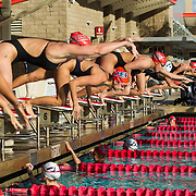 02 December 2016: The San Diego State Aztecs Swimming team hosted Pepperdine Friday afternoon at the SDSU Aquaplex. Event 7 50 Yard Freestyle  www.sdsuaztecphotos.com