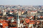 Prague, Czech Republic cityscape with The Vltava River