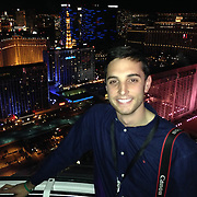 November 12, 2014, Las Vegas, Nevada:<br /> Billie Weiss shoots a ride in the High Roller Ferris Wheel in Las Vegas, Nevada Sunday, November 9, 2014.<br /> (Photo by Billie Weiss/TEAMS)