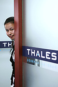 Thales employees have a chat in Thales headquarters in Shanghai Pudong Zhangjiang High-Tech Park, China, on March 28, 2008. Photo by Lucas Schifres/Pictobank