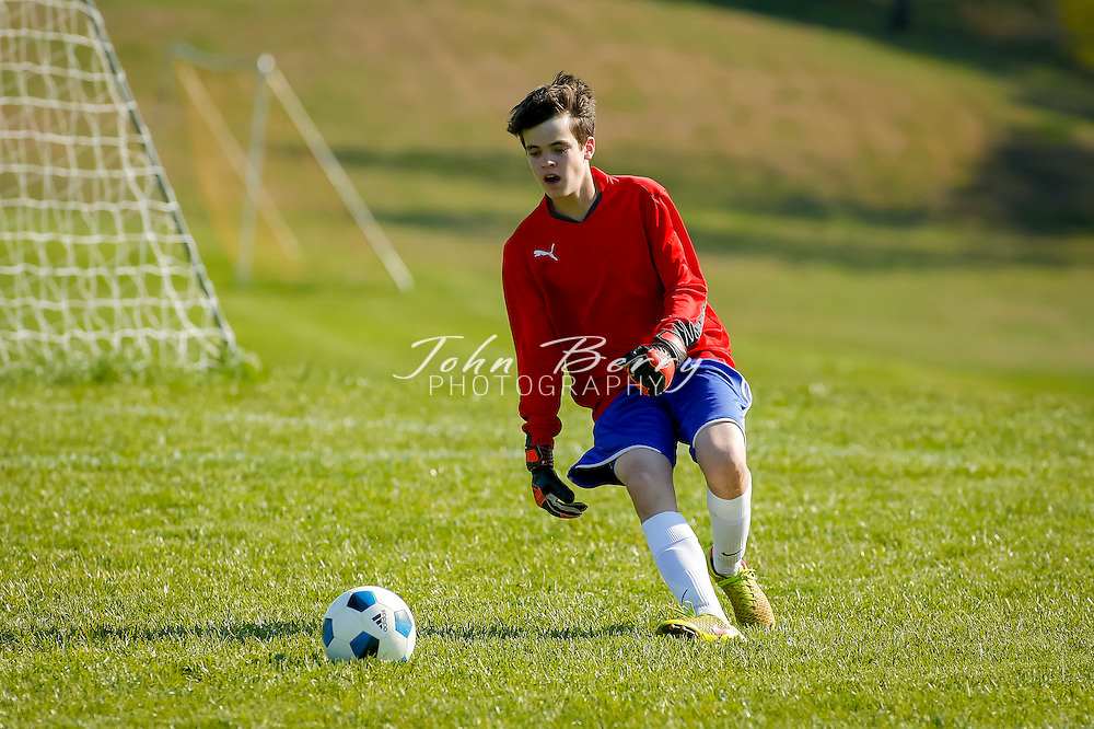 April 28, 2015.  <br /> MCHS JV Boys Soccer vs Manassas Park