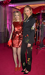 Left to right, NATALIA VODIANOVA and KARLIE KLOSS at The Naked Heart Foundation's Fabulous Fund Fair hosted by Natalia Vodianova and Karlie Kloss at Old Billingsgate Market, 1 Old Billingsgate Walk, London on 20th February 2016.