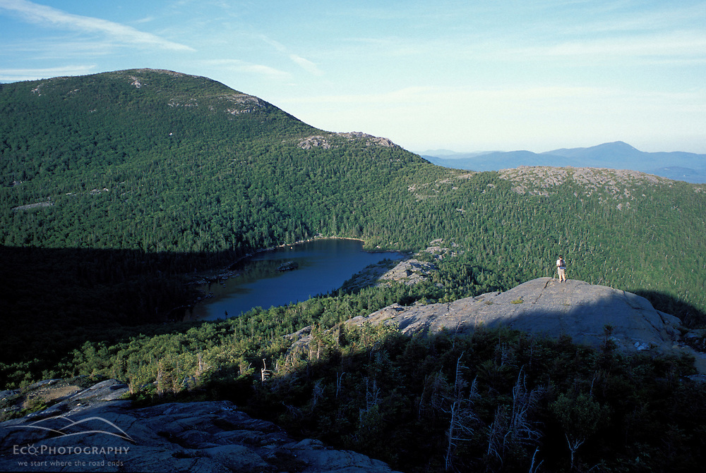 Weld, ME. Just below the east peak of Tumbledown Mountain.  Little Jackson Mountain and Tumbledown Pond are in the distance. Northern Forest.