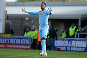 Millwall goalkeeper Jordan Archer (1) during the EFL Sky Bet League 1 match between Northampton Town and Millwall at Sixfields Stadium, Northampton, England on 15 October 2016. Photo by Dennis Goodwin.