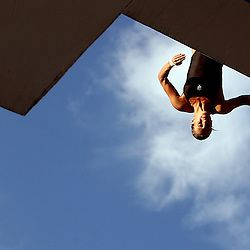Cosima Lenz leaps off the 10mm diving board during the Kaiser Permantente 2008 National Diving Championships at the Rose Bowl Aquatics Center Wednesday, July 23, 2008, in Pasadena,Calif. (Pasadena Star-News Keith Birmingham)