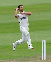 Somerset's Lewis Gregory - Photo mandatory by-line: Harry Trump/JMP - Mobile: 07966 386802 - 08/07/15 - SPORT - CRICKET - LVCC - County Championship Division One - Somerset v Sussex- Day Four - The County Ground, Taunton, England.