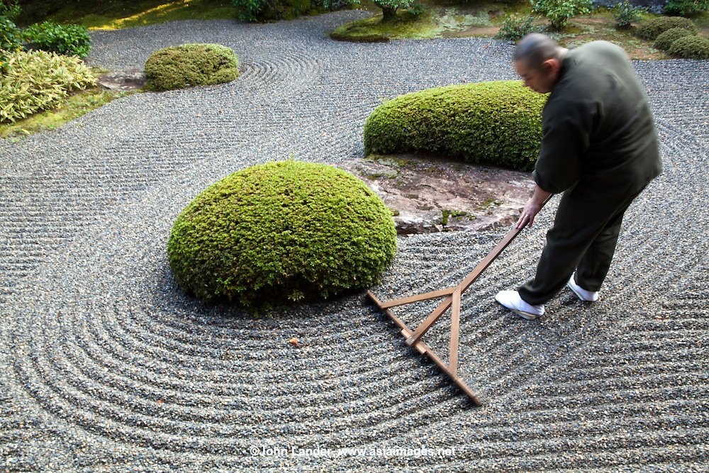 Wonderful Zen Garden Japanese Gardener John Lander Photography