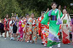 United States, Washington, Seattle, Bon Odori festival celebrated by Japanese-Americans at Buddhist temple