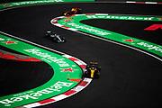 October 27-29, 2017: Mexican Grand Prix. Carlos Sainz Jr. (SPA) Renault Sport Formula One Team, R.S. 17, Lewis Hamilton (GBR), Mercedes AMG Petronas Motorsport, F1 W08, Max Verstappen (DEU), Red Bull Racing, RB13