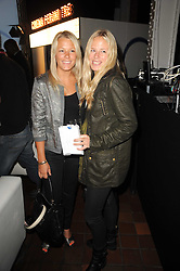 Left to right, sisters DAVINA HARBORD and ASTRID HARBORD at the Launch of Peroni Nastro Azzurro Accademia del Film Wrap Party Tour held atThe Boiler House, 152 Brick Lane, London E1 on 25th August 2010.