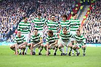 CIS Cup Final<br /> Celtic v Rangers<br /> Hampden Park<br /> Glasgow<br /> <br /> Celtic team without goal keeper Artur Boruc!<br /> 15/03/2009 Credit Colorsport / Ian MacNicol