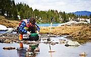 Silt sampling in southern British Columbia
