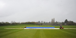General view of Taunton Vale Cricket Club as play is abandoned for the day.  - Mandatory by-line: Alex Davidson/JMP - 04/04/2016 - CRICKET - Taunton Vale Cricket Club - Taunton , England - Somerset County Cricket Club v Lancashire County Cricket Club - Pre Season