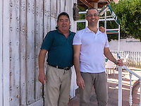 Umberto Holgado and father, restauranteurs, San Pedro de Alcantara, Marbella, Spain, October, 2016, 201610052825<br />