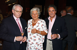 Left to right, DR DAVID STARKEY, BARONESS BOOTHROYD and WILLIAM TALLON at a party to celebrate the publication of Southwold - An Earthly Paradise by Geoffrey Munn and of Forty Years of The Antique Collectors Club at The Arts Club, 40 Dover Street, London W1 on 8th June 2006.<br /><br />NON EXCLUSIVE - WORLD RIGHTS