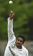 .Photo Peter Spurrier.20/06/02.Anil Kumble, net practice Lords, 20020620, India Test Team, Nets, Lords. [Mandatory Credit Peter Spurrier:Intersport Images]