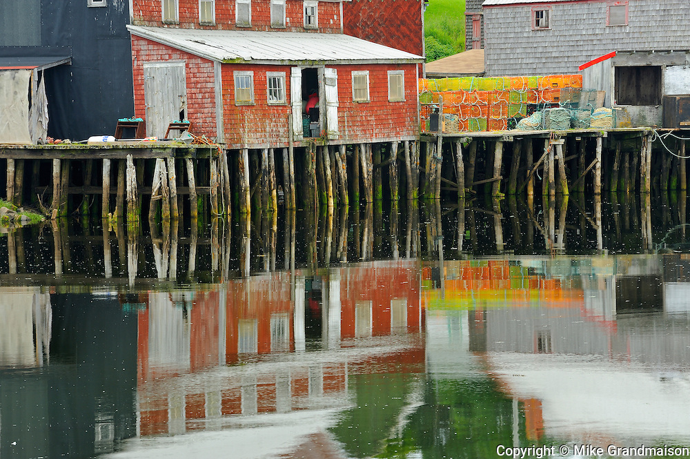 Museum in Old fishing village at Seal Cove<br /> Grand Manan Island<br /> New Brunswick<br /> Canada