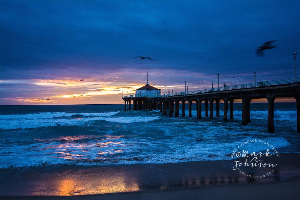 Manhattan Beach Pier, Manhattan Beach, Los Angeles, California, USA