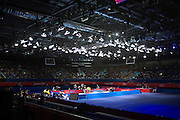 At the Excel Centre in East London the Olympic table tennis semi finals are played between Hong Kong and South Korea