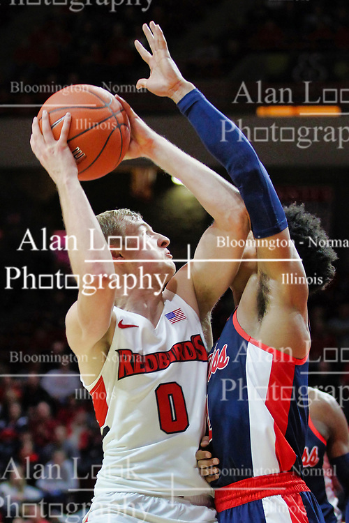 NORMAL, IL - December 08: Isaac Gassman during a college basketball game between the ISU Redbirds and the University of Mississippi (Ole Miss) Rebels on December 08 2018 at Redbird Arena in Normal, IL. (Photo by Alan Look)