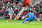 Alvaro Morata (29) of Chelsea shoots at goal during the Premier League match between Southampton and Chelsea at the St Mary's Stadium, Southampton, England on 7 October 2018.