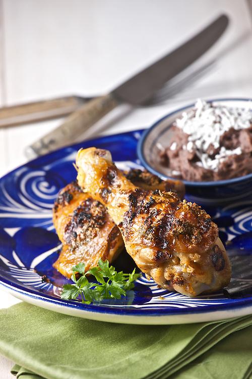 Pollo asado con orégano, Mexican grilled chicken with oregano from Oaxaca