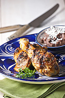 Pollo asado con orégano, Mexican grilled chicken with oregano from Oaxaca