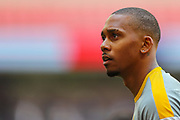Newport County midfielder Keanu Marsh-Brown (10) warms up prior to the EFL Sky Bet League 2 Play Off Final match between Newport County and Tranmere Rovers at Wembley Stadium, London, England on 25 May 2019.