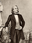 Franz (Ferencz) Liszt (1811-1886) Hungarian pianist and composer. After a photograph.