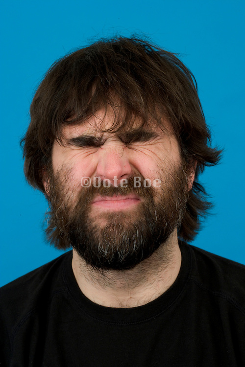 portrait of a person making a funny face