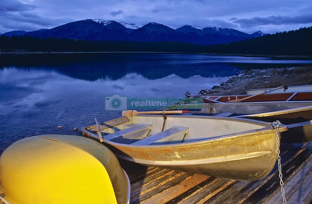 July 21, 2019 - Boats At Patricia Lake, Jasper National Park, Alberta, Canada (Credit Image: © Bilderbuch/Design Pics via ZUMA Wire)