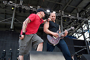 All That Remains performing at Rock on the Range at Crew Stadium in Columbus, OH on May 22, 2011