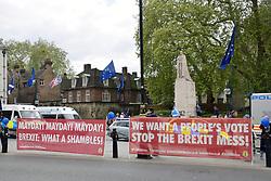 Remain Brexit protesters outside Parliament, London UK 29 April 2019