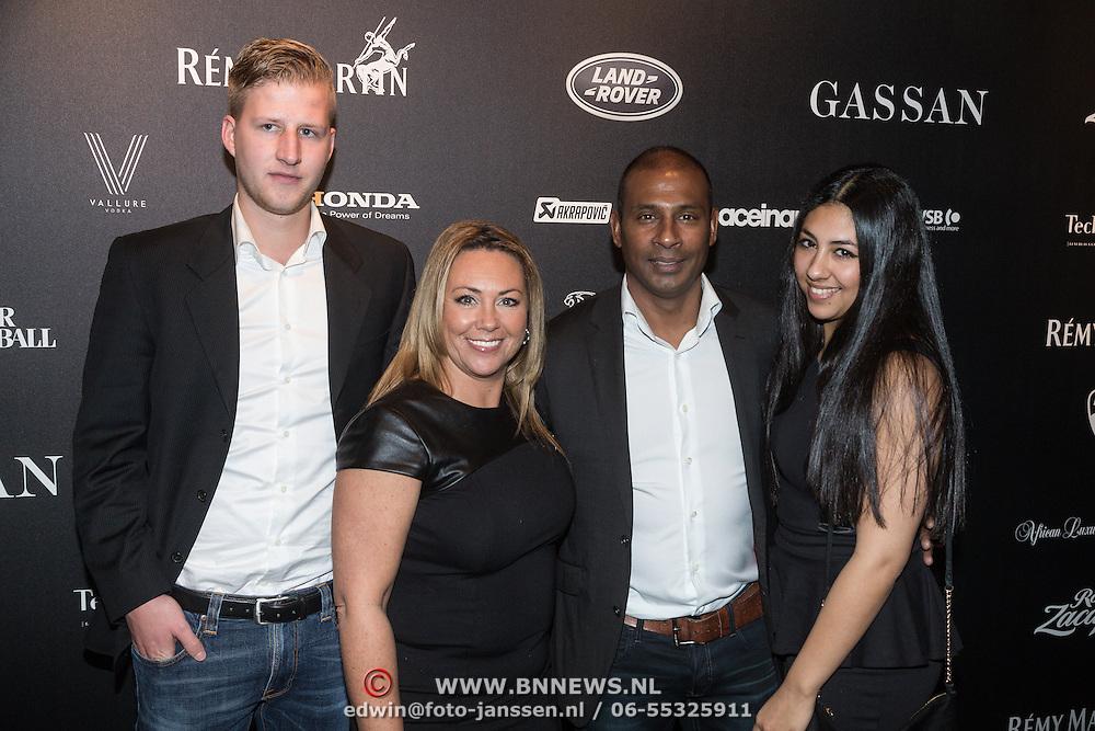 NLD/Amsterdam/20131201 - Vipnight LAF voetbalfair, Aron Winter, partner Yvonne Roose, dochter en haar partner