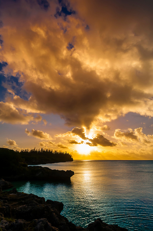 Sunset, Pede, Island of Mare, Loyalty Islands, New Caledonia