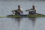 Hazenwinkel, BELGIUM,  Men's Pair, [ M2-],  Bow: Alex PARTRIDGE and Tom SOLESBURY, in the last stroke of the morning time trial, at the GB Rowing Senior Trials, on Sun,15.04.2007  [Credit, Peter Spurrier/Intersport-images]   [Mandatory Credit, Peter Spurier/ Intersport Images]. , Rowing Course, Bloso, Hazewinkel. BELGUIM