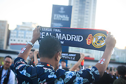Supporter of Real Madrid prior to the UEFA Champions League final football match between Liverpool and Real Madrid at the Olympic Stadium in Kiev, Ukraine on May 26, 2018.Photo by Sandi Fiser / Sportida