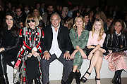 Kendall Jenner, Anna Wintour,  Philip Green,Kate Moss, Lottie moss at Topshop Unique on day 3 of London Fashion Week February 15 2014.<br /> <br /> <br /> Photo by Ki Price