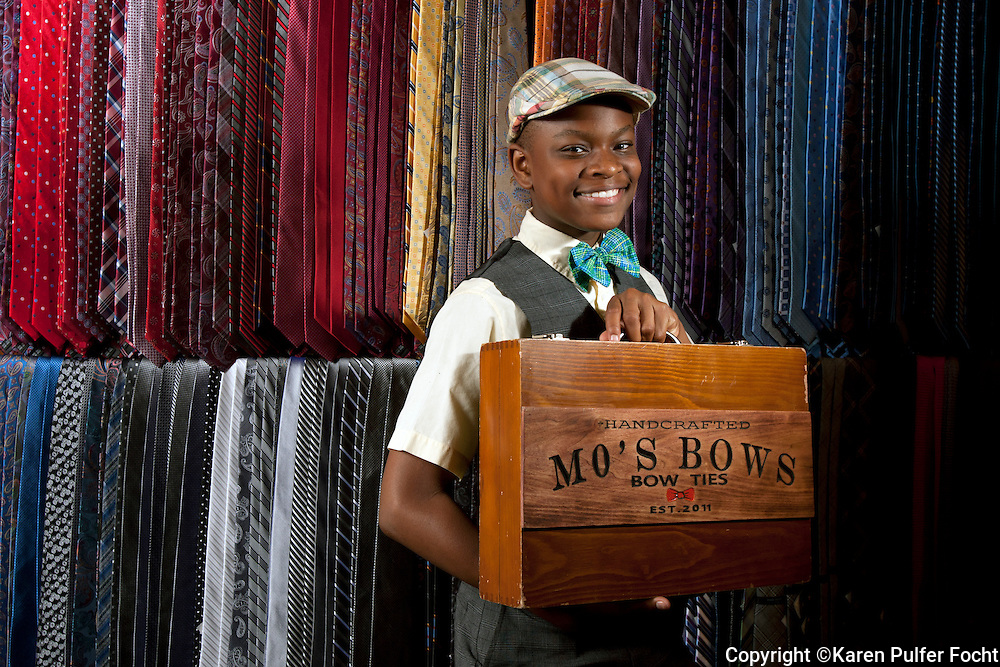 """One of Memphis' youngest CEOs  has grown his homespun business into an internationally recognized company, Mo's Bows. TIME Magazine this week named 13-year-old Bridges one of the """"30 Most Influential Teens of 2015."""" Moziah Bridges started his business at age 9 with the help of his grandmother."""