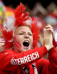 A young Austria fan cheers - Mandatory by-line: Joe Meredith/JMP - 18/06/2016 - FOOTBALL - Parc des Princes - Paris, France - Portugal v Austria - UEFA European Championship Group F