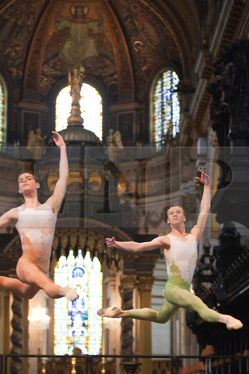 """© Licensed to London News Pictures. 03/07/2012. London, England. The English National Ballet performing the World Preimiere of """"The Four Seasons"""" choreographed by Van Le Ngoc at St. Paul's Cathedral (dress rehearsal). Photo credit: Bettina Strenske/LNP"""