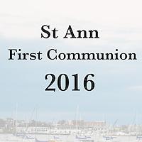 St Ann 2016 1st Comm Cover