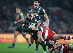 December 27, 2016 - London, England, United Kingdom - Harlequins Joe Marler during Aviva Premiership Rugby match between Harlequins and Gloucester Rugby at The Twickenham Stadium, London on 27 Dec 2016  (Credit Image: © Kieran Galvin/NurPhoto via ZUMA Press)