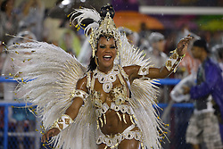 """A dancer participates in the parade of the Samba school """"Unidos do Viradouro"""", in the first performing night of the Special Group of the Rio de Janeiro Carnival, in the Sambadrome Marques de Sapucai, in Rio de Janeiro, Brazil, on Feb. 15, 2015. EXPA Pictures © 2015, PhotoCredit: EXPA/ Photoshot/ AGENCIA ESTADO<br /> <br /> *****ATTENTION - for AUT, SLO, CRO, SRB, BIH, MAZ only*****"""