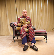 The Green Bay Tree <br /> by Mordaunt Shairp<br /> at the Jermyn Street Theatre, London, Great Britain <br /> press photocall <br /> 26th November 2014 <br /> directed by Tim Luscombe<br /> <br /> <br /> <br /> Alister Cameron as Trump <br /> <br /> <br /> Photograph by Elliott Franks <br /> Image licensed to Elliott Franks Photography Services