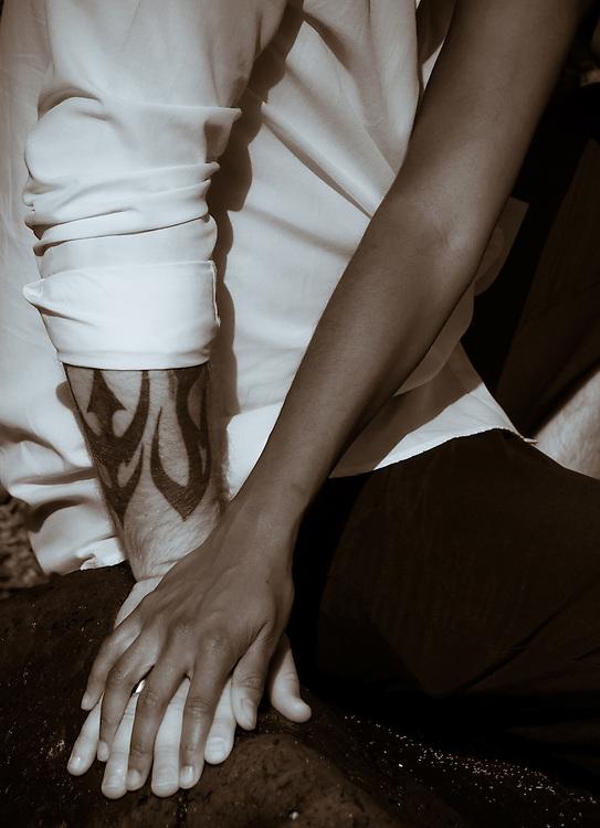 Together holding hands