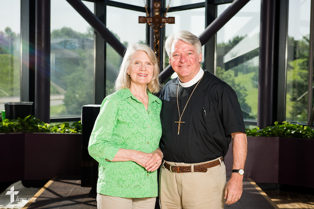 Portrait of Thomas and Mary Aadland at the International Center of The Lutheran Church–Missouri Synod on Wednesday, June 11, 2015, in Kirkwood, Mo. LCMS Communications/Frank Kohn